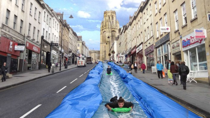 urban mobility waterslide